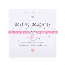 Joma Jewellery A little DARLING DAUGHTER Childs Adjustable Threaded Bracelet